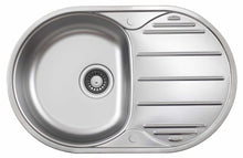 Load image into Gallery viewer, 780 x 500mm Oval Stainless Steel Kitchen Utility Room Sink | Grand Taps
