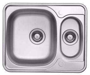 594 x 488mm Reversible Stainless Steel Sink With Accesories (LA005)