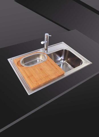 Enjoyable Inset Polished Stainless Steel Kitchen Sink With Chopping Board Download Free Architecture Designs Scobabritishbridgeorg
