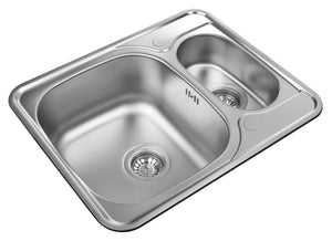 594 x 488mm Reversible Stainless Steel Sink | Grand Taps