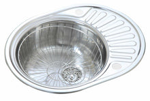 Load image into Gallery viewer, 577 x 447mm Polished Reversible Round Stainless Steel Sink (LA001)