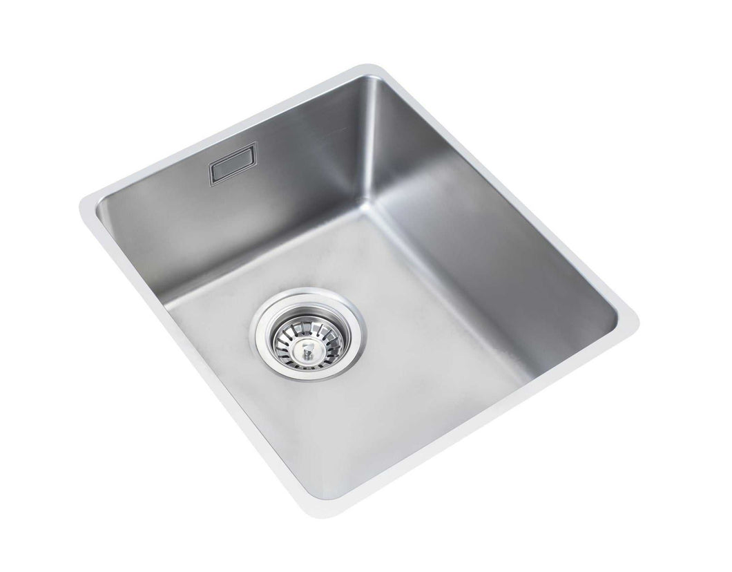 340 x 440mm Inset/Undermount Deep Single Bowl Stainless Steel Kitchen Sink (LA016)