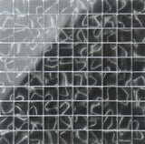Black Glass With Grey Holographic Effect Mosaic Tiles (MT0135)