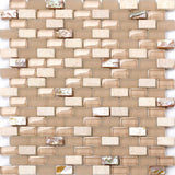 Sample of Stone & Glass Mosaic Wall Tile Sheet (MT0147)