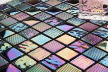 Load image into Gallery viewer, Mermaid Glass Mosaic Tiles | Rainbow Bathroom Tiles | Grand Taps