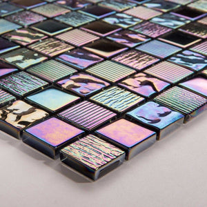 Mermaid Glass Mosaic Tiles | Rainbow Bathroom Tiles | Grand Taps