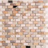 Polished Steel, Stone & Glass Mosaic Wall Tiles (MT0145)