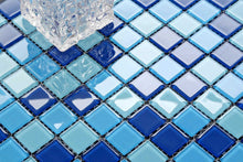 Load image into Gallery viewer, Blue & Aqua Glass Mosaic Tiles (MT0163)