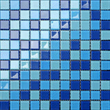 Blue & Aqua Glass Mosaic Tiles (MT0163)