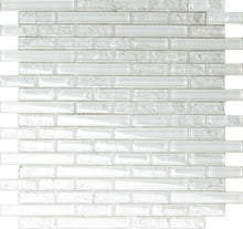 Load image into Gallery viewer, White Crackle & Plain Glass Mosaic Wall Tiles (MT0140)
