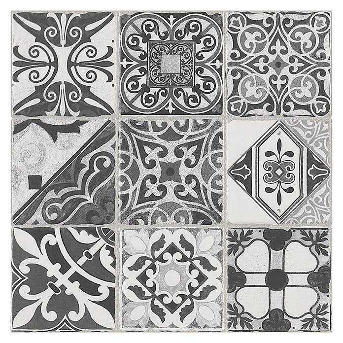 Victorian Black White Tiles | Edwardian Black White Tiles | Grand Taps
