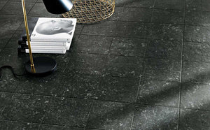 Black Matt Italian Large Floor Wall Porcelain Tiles | Grand Taps