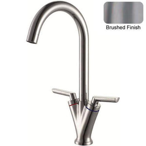 616 x 461mm Brushed Undermount 1.5 Bowl Stainless Steel Kitchen Sink & Kitchen Mixer Tap (KST125 R)