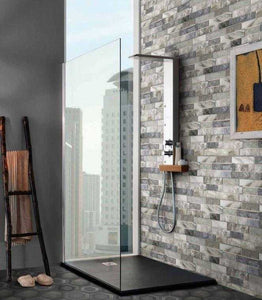 Argille Navy Slip Brick Interlocking Porcelain Wall Tile