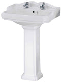 Quality Ceramic Basin & Pedestal in 3 designs