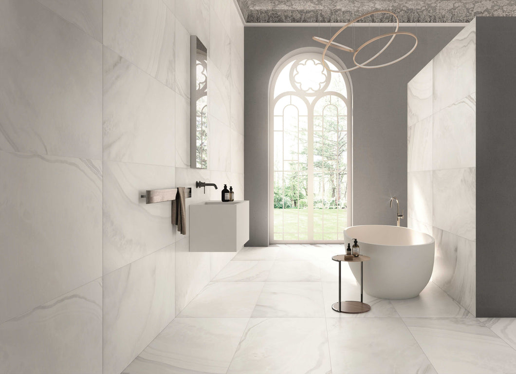 600x600mm White Onyx Italian Porcelain Tiles (IT0118)