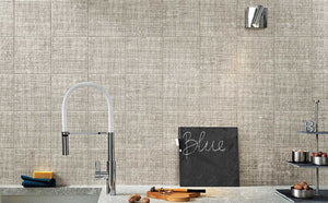 Grey Weave Effect Kitchen Bathroom Tiles | Grand Taps