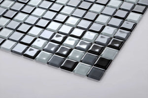 Black Blue Grey White Mosaic Tiles | Kitchen Splashback tiles | Grand Taps