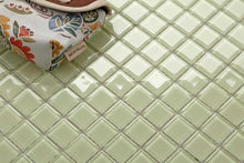 Load image into Gallery viewer, Light Green Glass Mosaic Bathroom Kitchen Splashback Tiles | Grand Taps