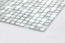 Load image into Gallery viewer, Silver Frosted Mirror Glitter Mosaic Kitchen Bathroom Tiles | Grand Taps