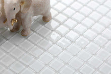 Load image into Gallery viewer, Sample of Superwhite Glass Mosaic Tiles Sheet (MT0079)