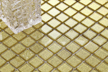 Load image into Gallery viewer, Gold Glitter Glass Mosaic Tiles (MT0080)