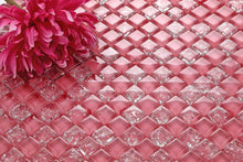 Load image into Gallery viewer, Pink Crackled & Plain Glass Mosaic Tiles (MT0085)