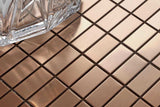 Copper Effect Stainless Steel Mosaic Wall Tiles Sheet (MT0105)