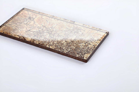 Gold Foil Glass Metro Tile 75x150mm (MT0116)