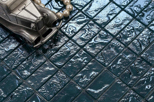 Petrol Blue Mosaic Bathroom Tiles | Blue Swimming Pool Tiles | Grand Taps