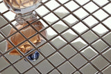 Polished Stainless Steel Mosaic Tiles (MT0130)