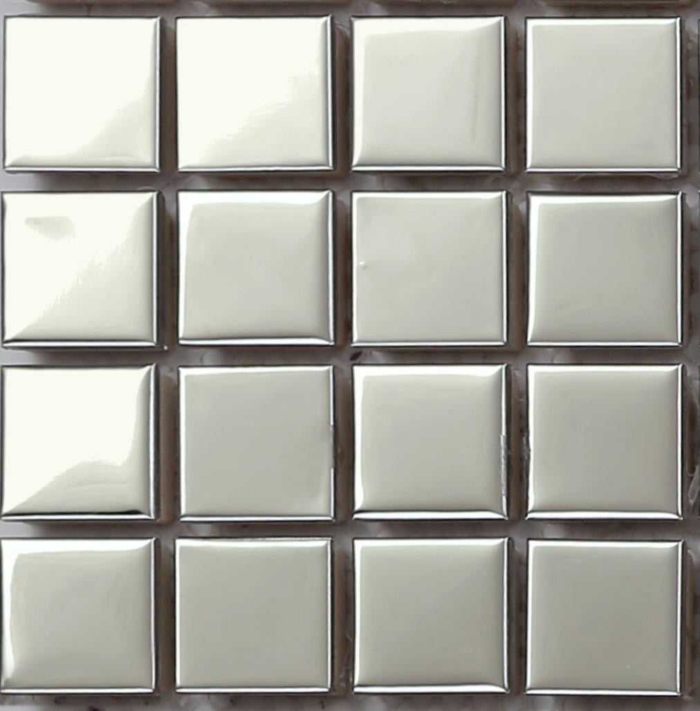 Sample of Polished Stainless Steel Mosaic Bathroom Shower Kitchen Tiles (MT0130)