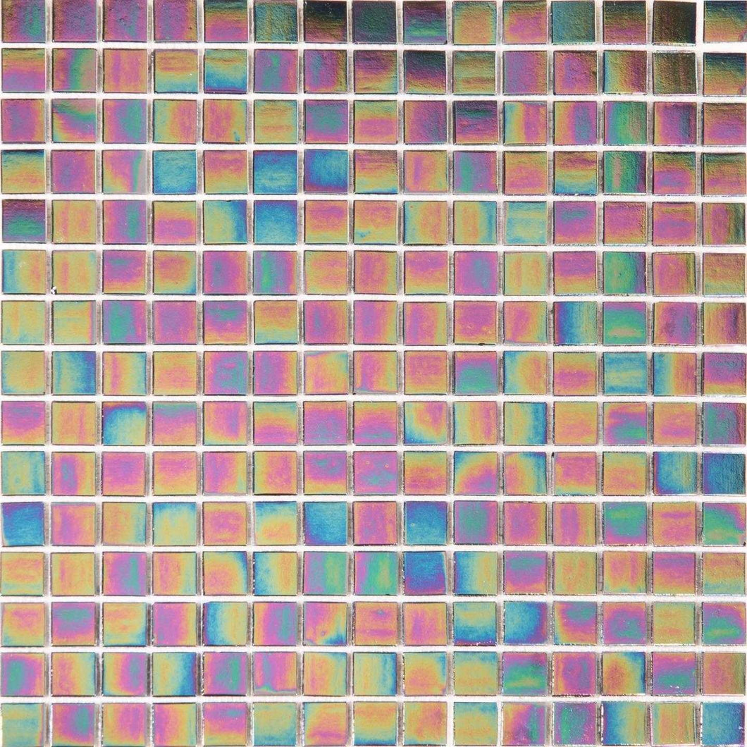Purple Iridescent Vitreous Glass Mosaic Tiles (MT0141)