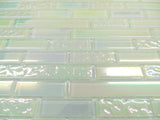 White Iridescent Textured & Plain Glass Mosaic Wall Tiles (MT0172)