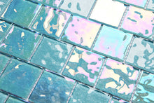 Load image into Gallery viewer, Blue Iridescent Unicorn Glass Mosaic Tiles (MT0203)