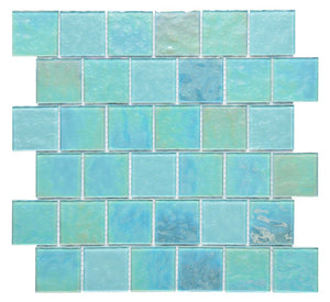 Blue Iridescent Unicorn Glass Mosaic Tiles (MT0203)