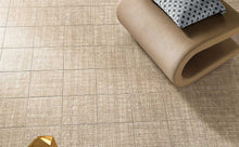 Load image into Gallery viewer, Geometric Weave Beige Bathroom Kitchen Floor Tiles | Grand Taps