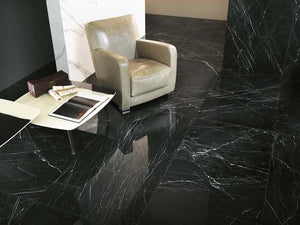Black Marble Effect Kitchen Bathroom Floor Tiles | Grand Taps