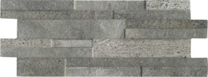 Quarzo Steel Split Face Interlocking Porcelain Wall Tile