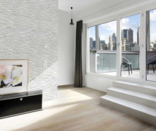 Load image into Gallery viewer, Rock White Split Face Porcelain Stoneware Tile