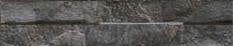 Rock Black Split Face Porcelain Stoneware Tile