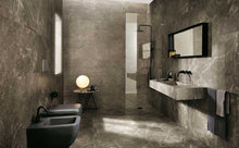 Load image into Gallery viewer, Matt Black Marble Effect Bathroom Kitchen Wet Room Tiles | Grand Taps