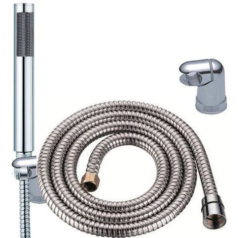 Chrome Microphone Shower Head, Hose & Bracket | Grand Taps