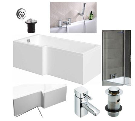 Square Shower Bath Bathroom Pack