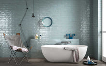 Load image into Gallery viewer, Sky Blue Gloss Brick Wall Tiles | Light Blue Metro Tiles | Grand Taps