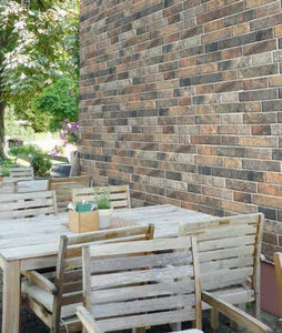 Slate Color Slip Brick Interlocking Porcelain Wall Tile