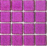 Glitter Purple Glass Feature Mosaic Tiles Sheet (MT0069)