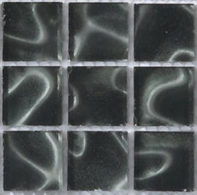 Load image into Gallery viewer, Sample of Black Glass With Grey Holographic Effect Mosaic Tiles sheet (MT0135)