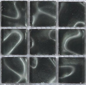 Sample of Black Glass With Grey Holographic Effect Mosaic Tiles sheet (MT0135)