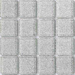 Silver Glitter Sparkling Square Mosaic Bathroom Wall Tiles | Grand Taps